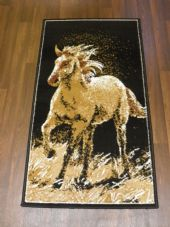 X NEW X Approx 4x2 60cmx110cm Novelty range New Horse Design rugs Beiges/Black